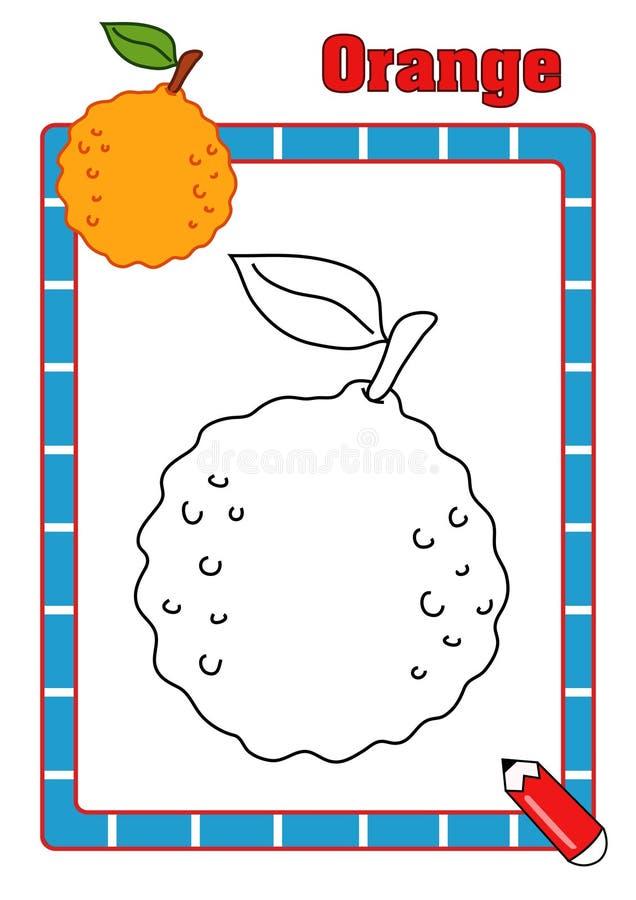 Färgläggningbok som är orange royaltyfri fotografi
