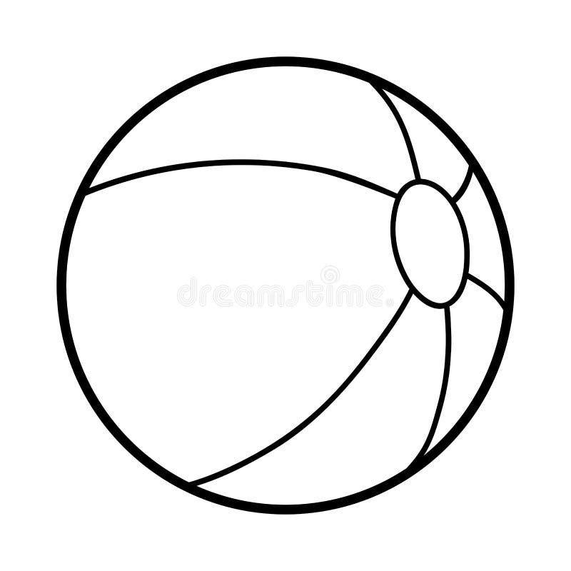 Färgläggningbok, strandboll stock illustrationer