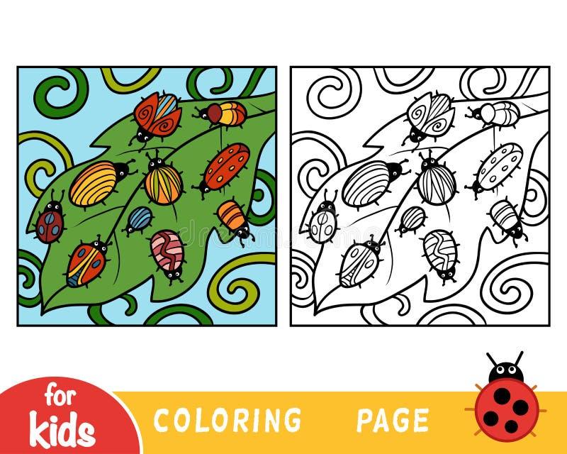 Färgläggningbok, tio fel royaltyfri illustrationer
