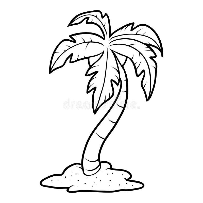 Färgläggningboken, gömma i handflatan på stranden vektor illustrationer