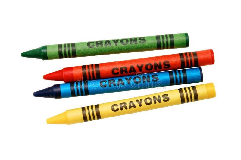 Färgläggningcrayons Arkivfoto