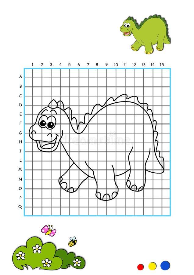 färgläggningdinosaur för 4 bok vektor illustrationer