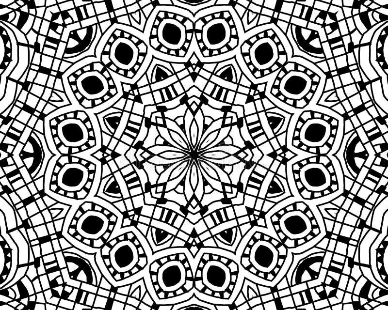 Färgläggningzentanglemandala stock illustrationer