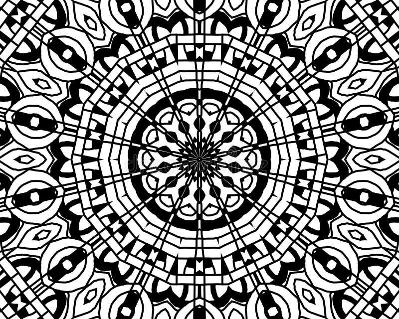 Färgläggningzentanglemandala vektor illustrationer