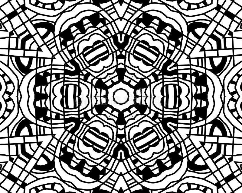 Färgläggningzentanglemandala royaltyfri illustrationer
