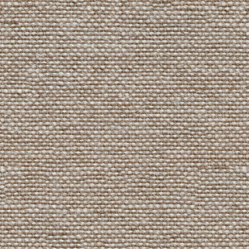 Färglös kanfasbakgrund för naturlig linne Sömlös fyrkantig textur, klar tegelplatta royaltyfria bilder