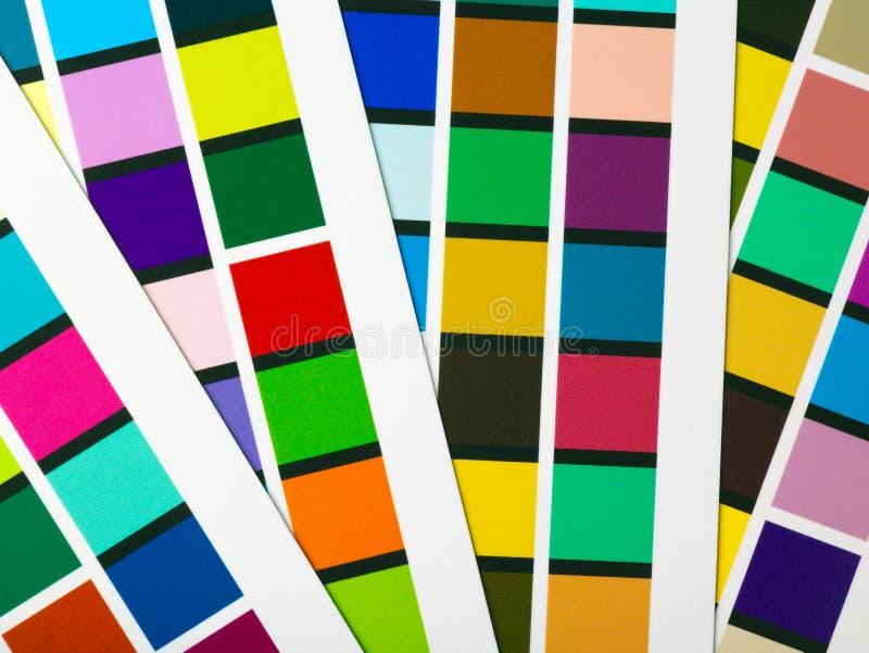 färglappar arkivfoton