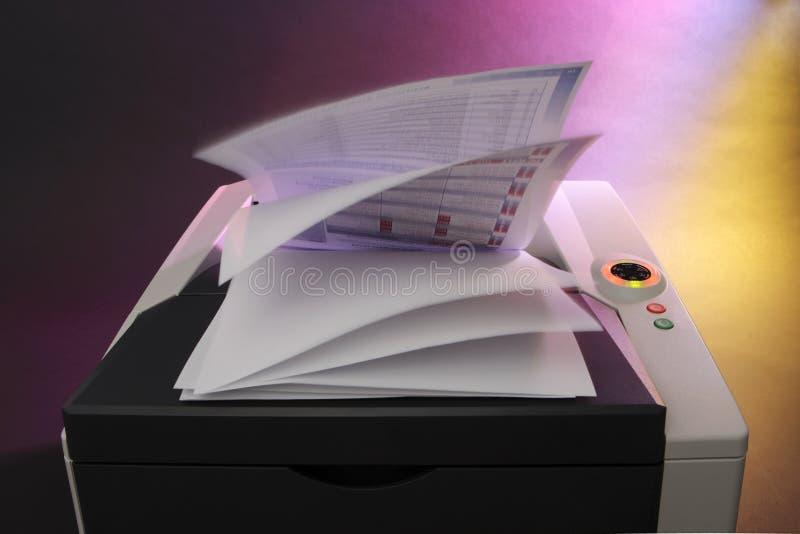 färglaser-skrivare royaltyfria foton