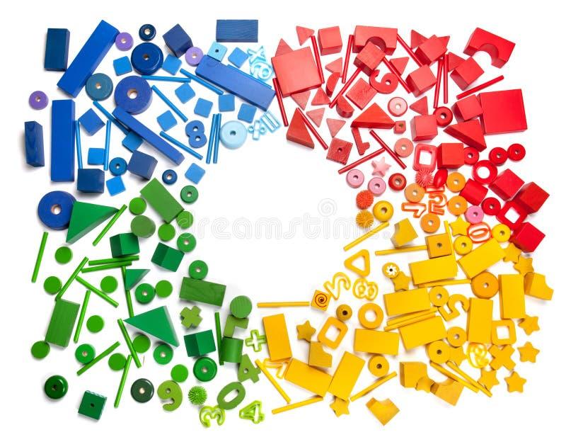 Färgleksakgräns arkivbild