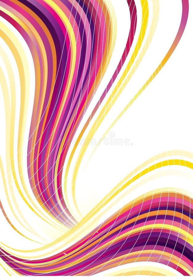 färglinje royaltyfri illustrationer