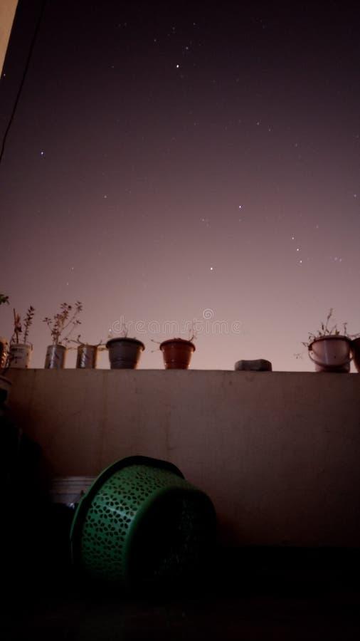 färglinje nattfotografi arkivbilder