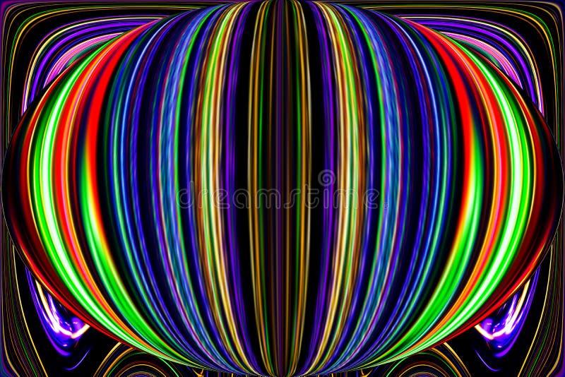 Färglinjer och kurvor skapar fantastisk elipsebild vektor illustrationer