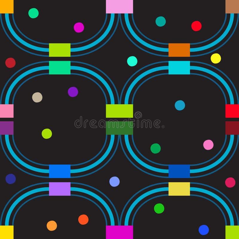 Färglinjer. Sömlös modell. stock illustrationer