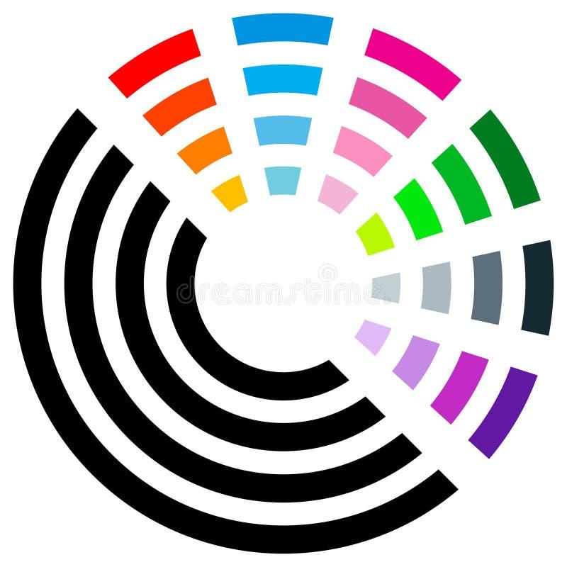 färglogo vektor illustrationer