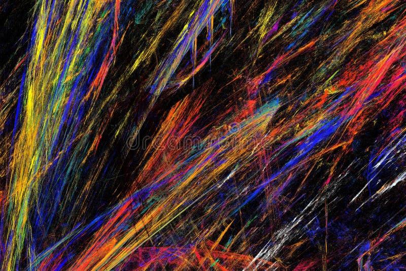 Färgmässigt abstrakt fraktalbild arkivbilder