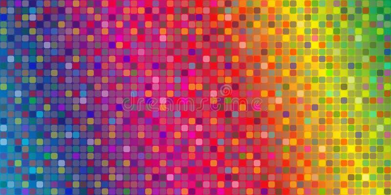 färgmosaik vektor illustrationer