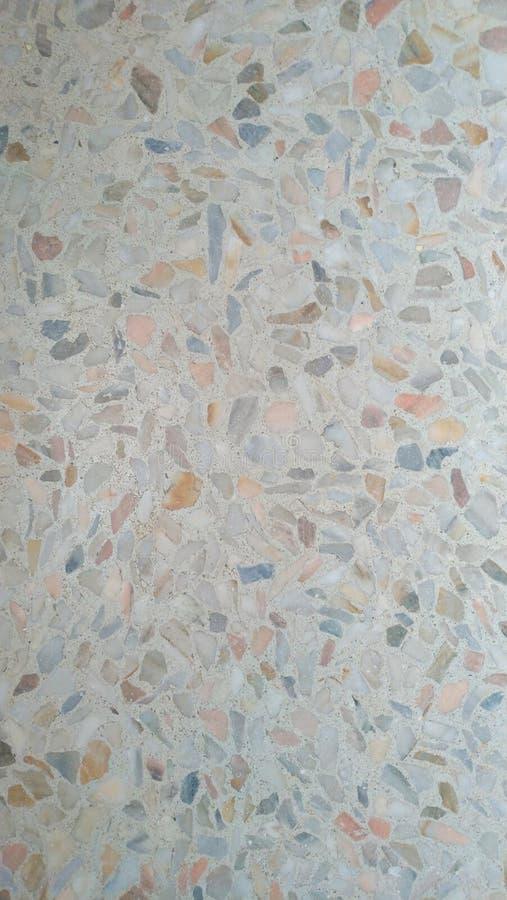 Färgmosaik på golvet, pastellfärgade färger arkivbild