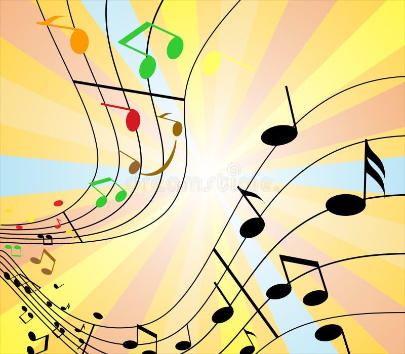färgmusik royaltyfri illustrationer
