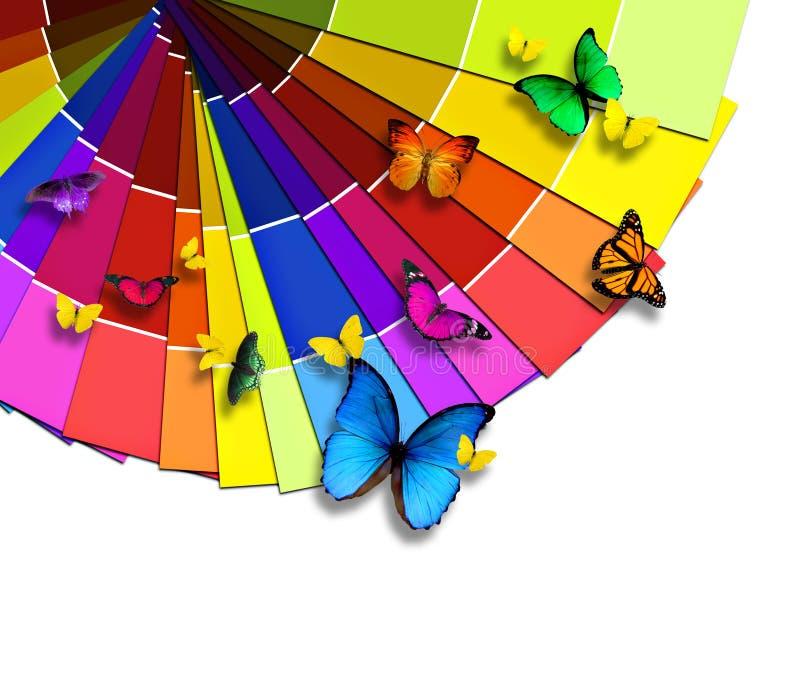 färgnaturpalett s stock illustrationer