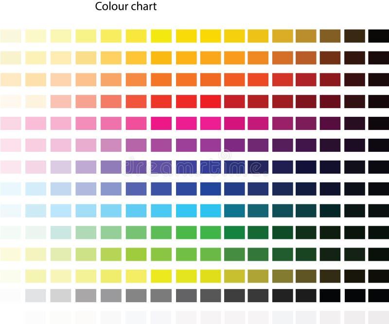 Färgpalett royaltyfri illustrationer