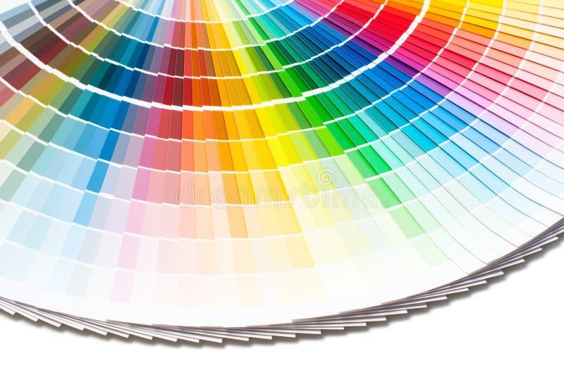 Färgpalett, färghandbok, målarfärgprövkopior, färgkatalog royaltyfria foton