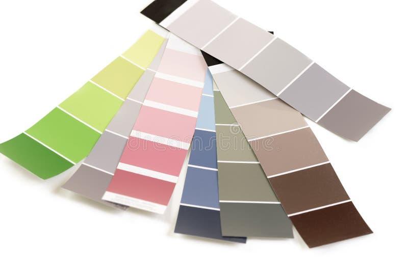 Färgpalett, prövkopior av den olika målarfärgkatalogen för att tona fotografering för bildbyråer