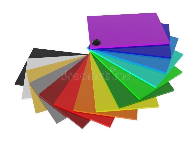 Färgpaletten av akryl i 3D royaltyfri illustrationer