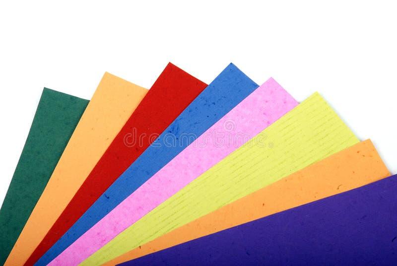 färgpapperen royaltyfri fotografi