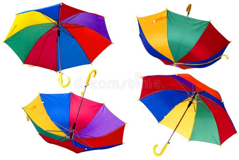 färgparaplyer royaltyfria bilder