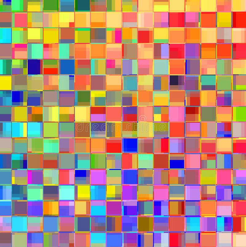 Färgpatchworkabstrakt begrepp vektor illustrationer