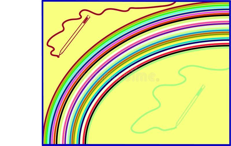Färgpenna på ritbord vektor illustrationer