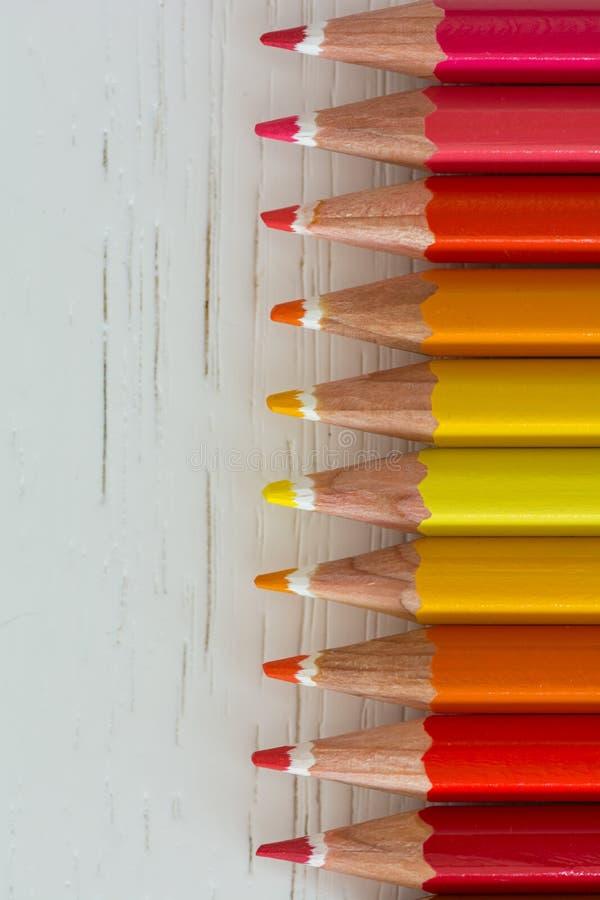 Färgpennaspetsar arkivfoton