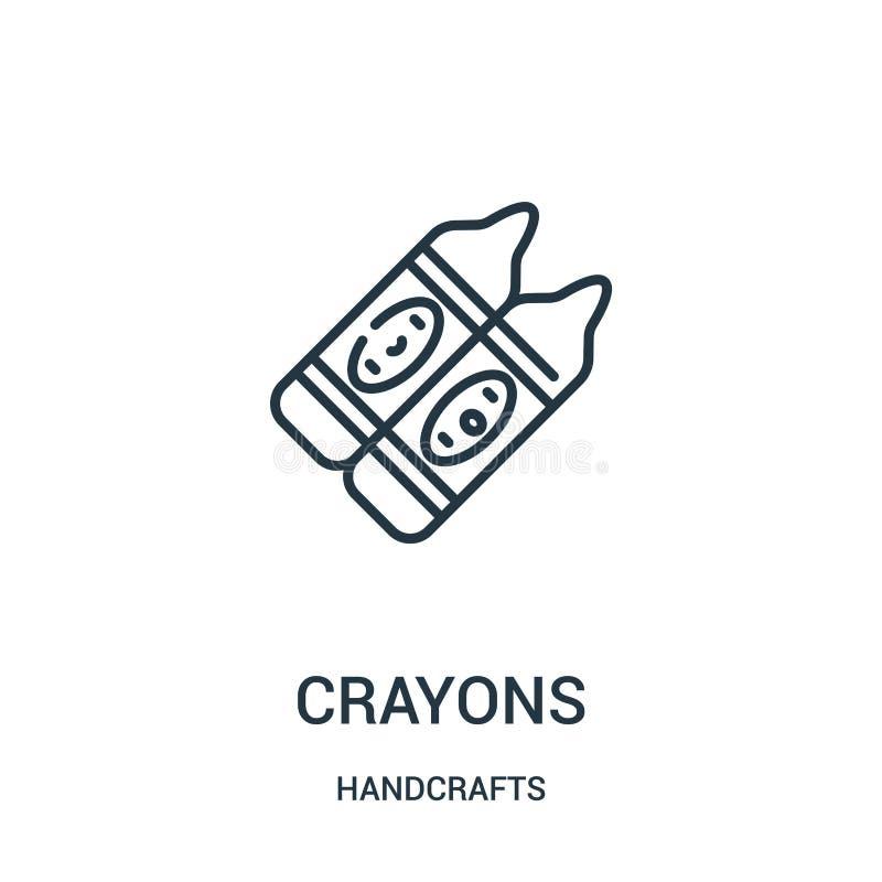färgpennasymbolsvektorn från handcrafts samlingen Tunn linje illustration för vektor för färgpennaöversiktssymbol Linjärt symbol  royaltyfri illustrationer