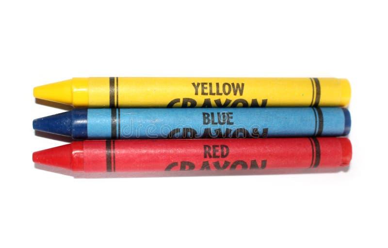 färgpennor för primära färger arkivbilder