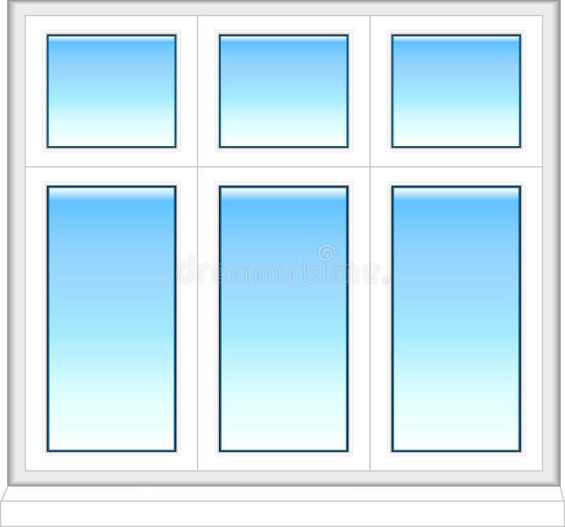 färgplast-fönster vektor illustrationer