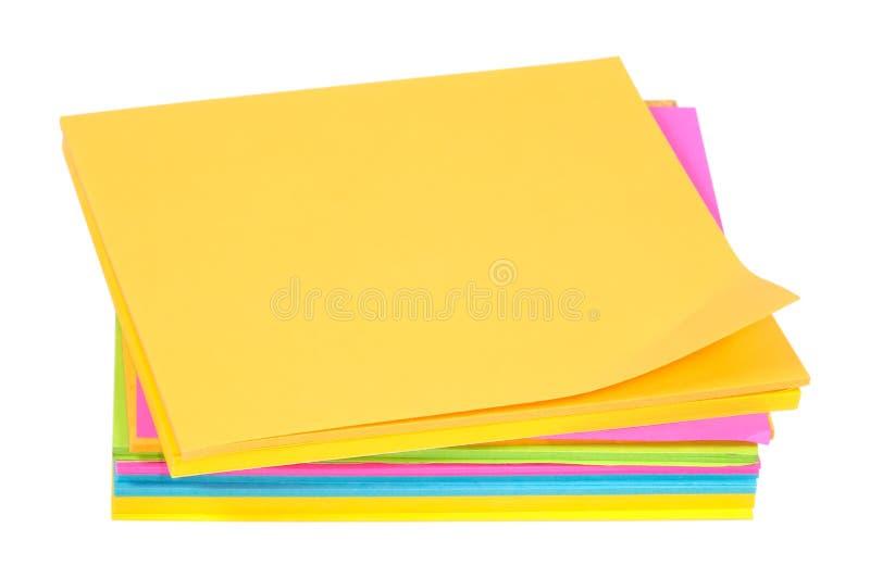 Download Färgpostits fotografering för bildbyråer. Bild av kontor - 288419