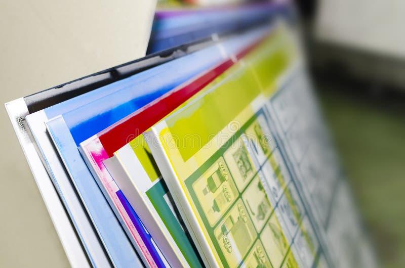 Färgpress för offset- printing royaltyfria foton