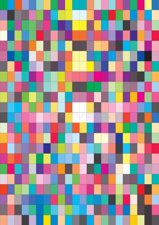 färgprovkartavektor royaltyfri illustrationer