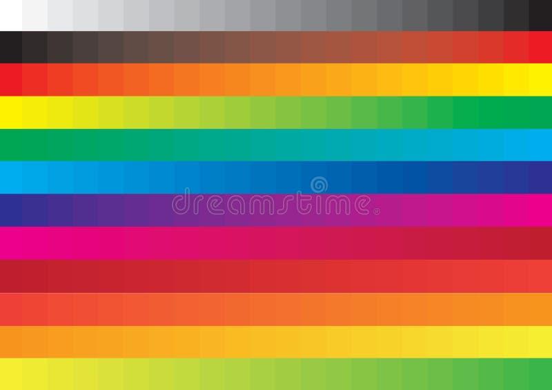 färgprovkartavektor stock illustrationer
