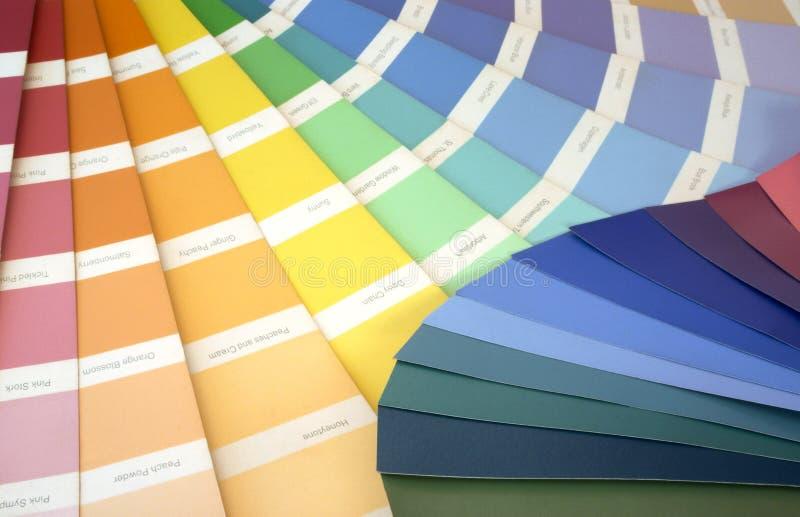 färgprovkartor arkivfoton