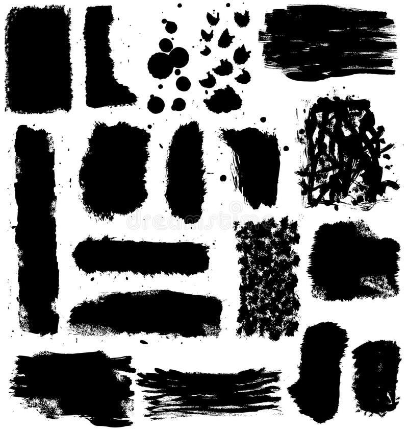 färgpulver för designelementgrunge stock illustrationer