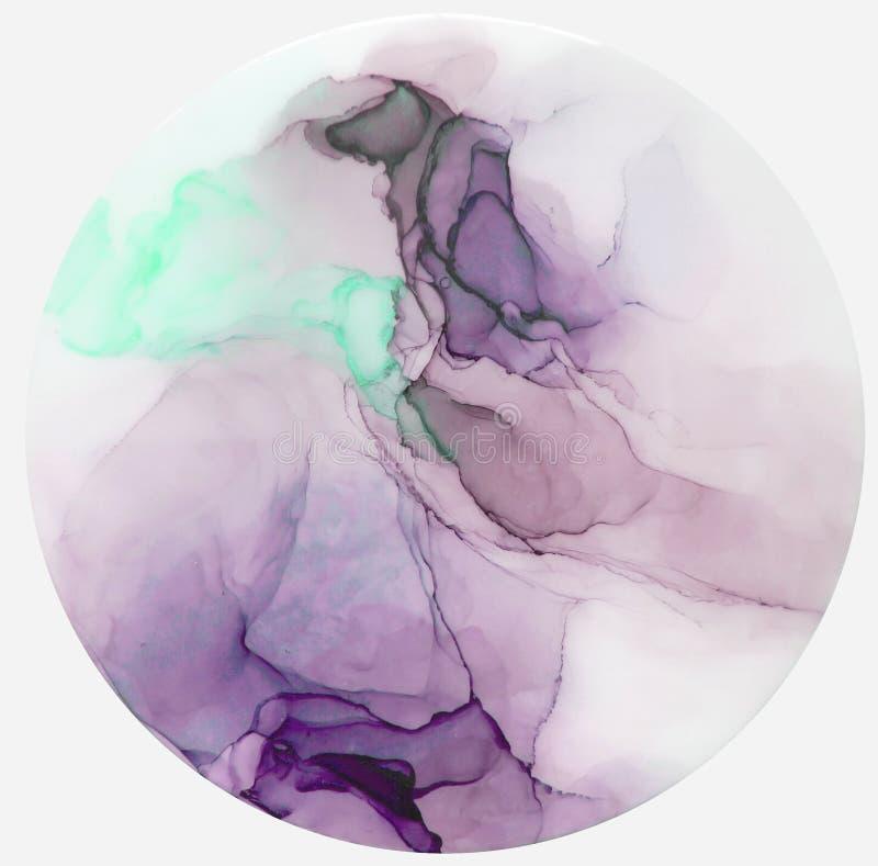 Färgpulver målarfärg, abstrakt begrepp Closeup av målningen stock illustrationer