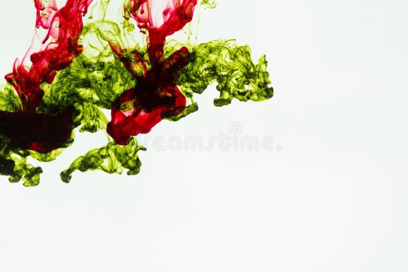 färgpulverdroppe fotografering för bildbyråer