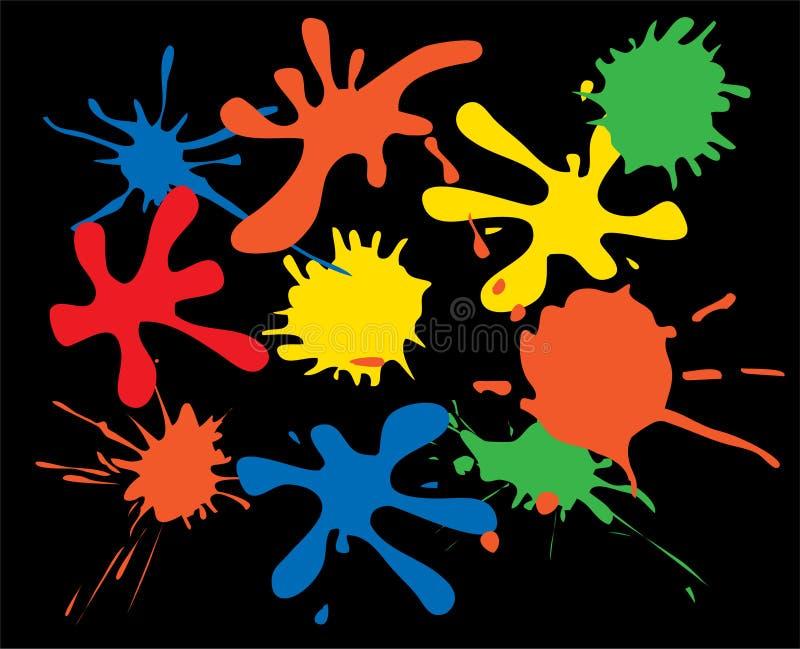 färgpulverfläckar stock illustrationer