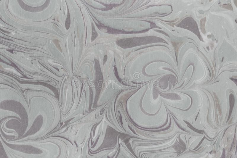 Färgpulvermarmortextur Ebru handgjord vågbakgrund Yttersida för Kraft papper Unik konstillustration Vätskemarmorera textur royaltyfri illustrationer