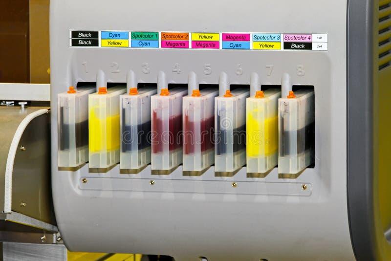 färgpulverskrivare arkivbild
