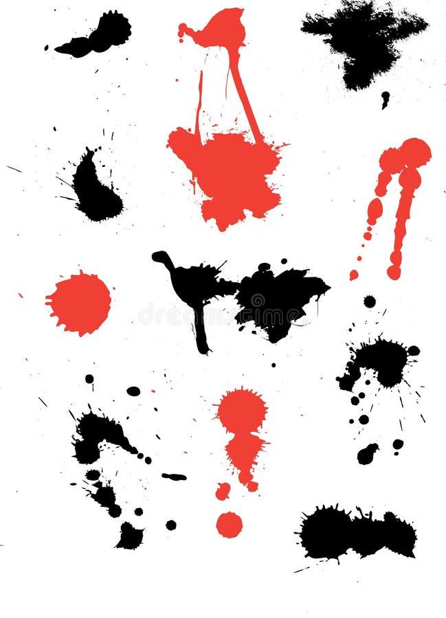 färgpulversplats royaltyfri illustrationer