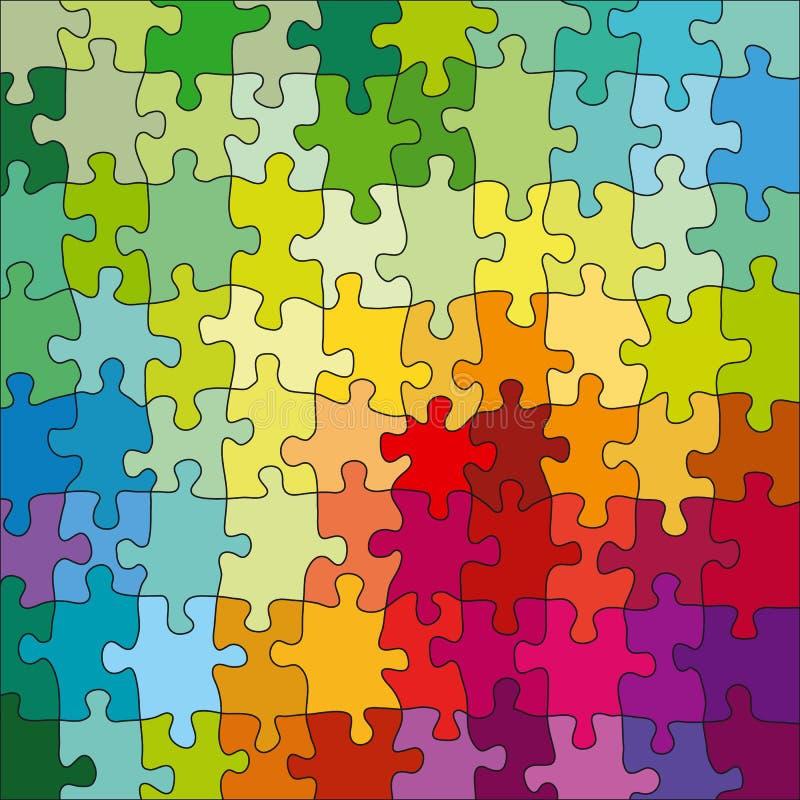 färgpussel stock illustrationer