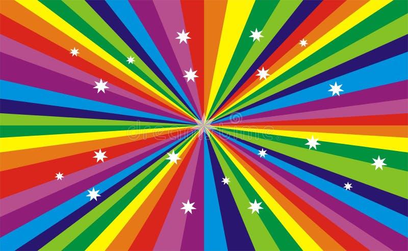 färgregnbåge royaltyfri illustrationer