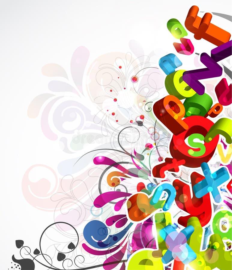 färgrik abstrakt bakgrund vektor illustrationer